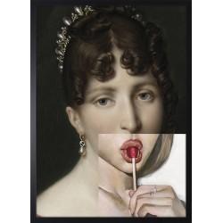 Obraz dama z lizakiem