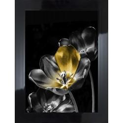 Obraz kwiat z żółtym płatkiem
