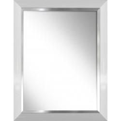 lustro biały połysk ze srebrnym paskiem
