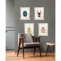 Obraz niebieski owad