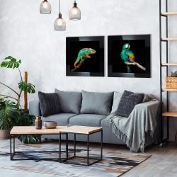Obraz turkusowy kameleon
