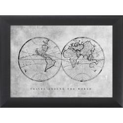 Obraz dwie półkule ziemskie...