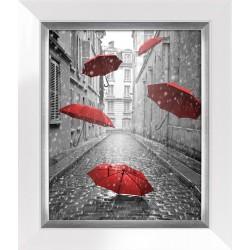 Obraz street with red...