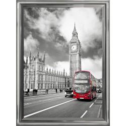 Obraz czerwony autobus w...