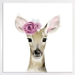 Obraz sarenka z różą