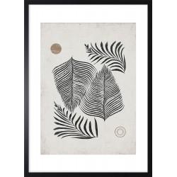 Obraz liście palmy zen