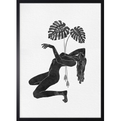 Obraz zen monstera woman