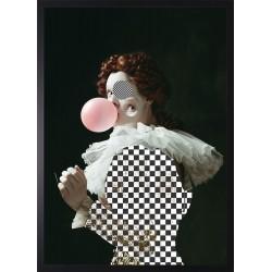 Obraz kobieta z balonem