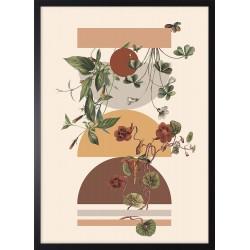 Obraz figury i rośliny