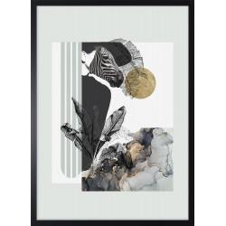Obraz kobieta zebra
