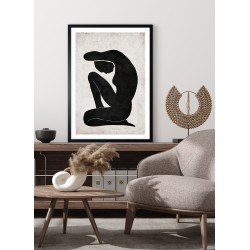 Obraz ilustracja sylwetka kobiety zen II