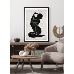 Obraz ilustracja sylwetka kobiety zen I