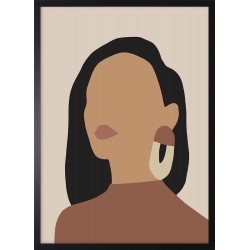 Obraz kobieta w kolczykach