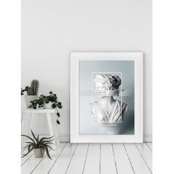 Obraz abstrakcja posąg