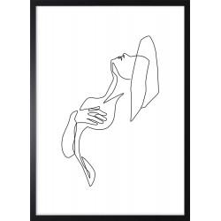 Obraz linia kobiecej sylwetki