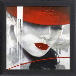 Obraz czerwony kapelusz I