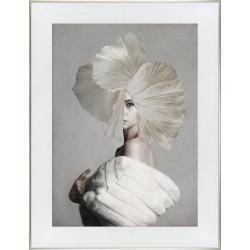 Obraz kobieta w futrze
