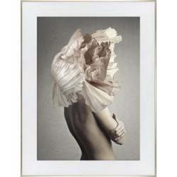 Obraz kobieta z kwiatem