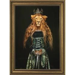 Obraz kobieta lwica