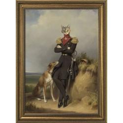 Obraz mężczyzna kot