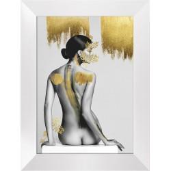 Obraz kobieta w złocie