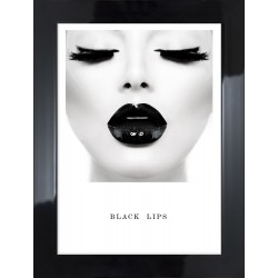 Obraz black lips