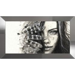 Obraz dziewczyna z piórami...