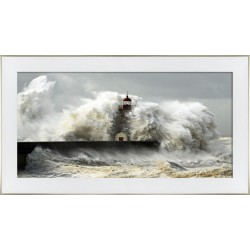 Obraz sztorm na molo