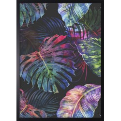 Obraz colorful monstera leaves