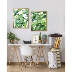 Obraz tropical monstera in a golden frame II