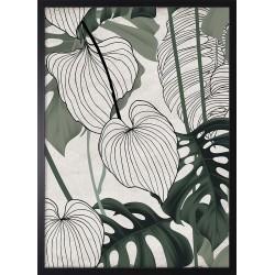 Obraz zielona abstrakcja z...