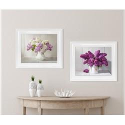 Obraz fioletowy bez w wazonie