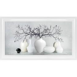 Obraz białe wazony III