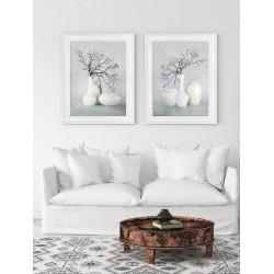 Obraz białe wazony I