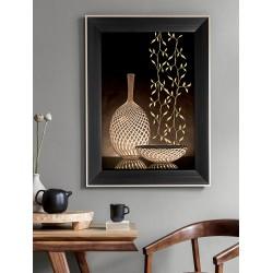 Obraz wazony wiklinowe koszyki II