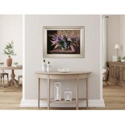 Obraz bukiet kwiatów łubinu