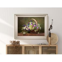 Obraz bukiet kwiatów mieszanych
