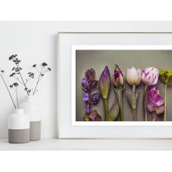 Obraz symetryczna kompozycja z kwiatów