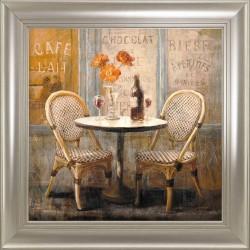 Obraz stolik w kawiarni