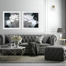 Obraz białe róże w duecie II