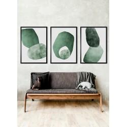 Obraz dwie zielone bryły III