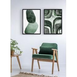 Obraz dwie zielone bryły I