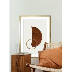 Obraz brązowe półkole