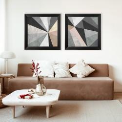 Obraz kolorowe trójkąty II