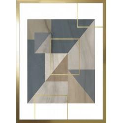 obraz mozaika trójkątna