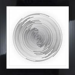 obraz circle white