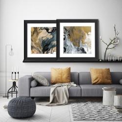 Obraz acrylic gold paint II
