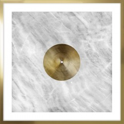 obraz złote koło marmur