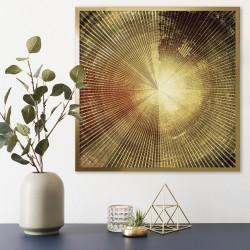 złota aranżacja ściany