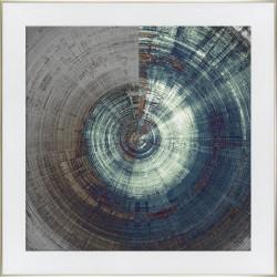 obraz abstrakcyjny turkusowy